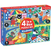 Mudpuppy Kindness 4-in-a-Box Puzzle Set – Includes 4 Progressive Jigsaw Puzzles for Kids with 4-12 Pieces – Features…