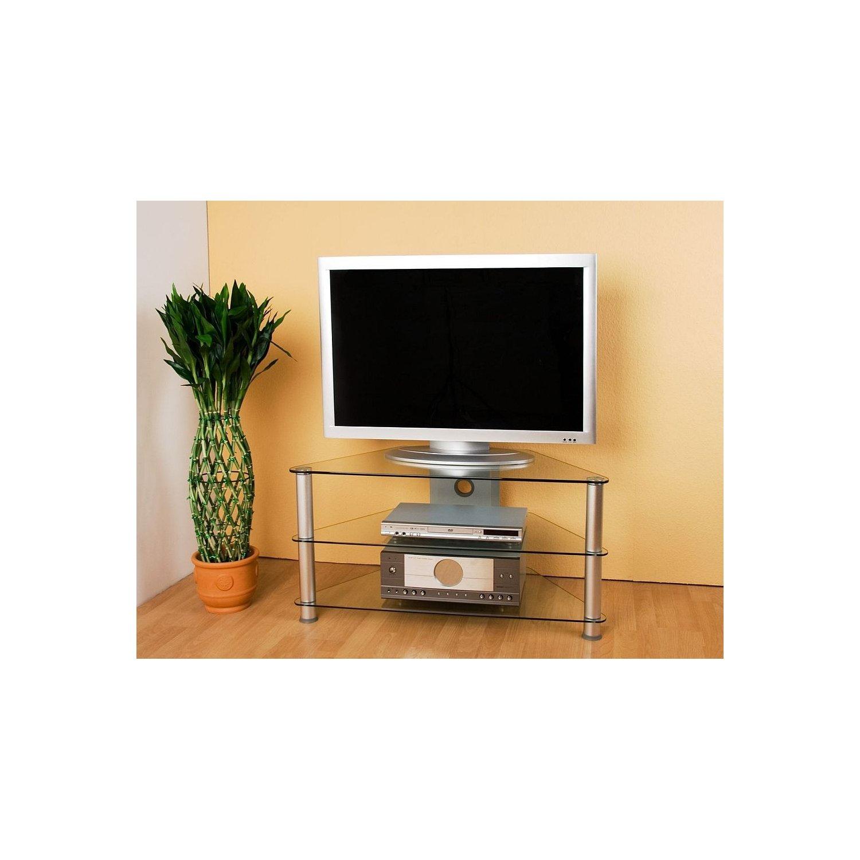 Stilista® tv tisch, 96 x 46 x 50 cm, 8 mm sicherheitsglas ...