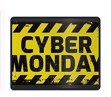 Alfombrilla de ratón de policía, diseño de Palabras de Goma, Alfombrilla de ratón Antideslizante para Videojuegos, Cyber Monday Sign, Talla única: ...