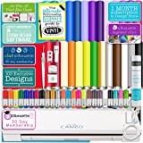 """Silhouette Cameo 3 Bluetooth Starter Bundle with 26-12"""" x 12"""" Oracal 651 Sheets, Transfer Paper, Guide, Class, 24 Sketch Pens"""