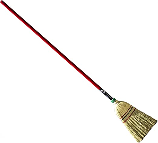 Authentic Hand Made All Broomcorn Broom, Long Handle Small Broom Head (48-Inch/Parlor) best broom