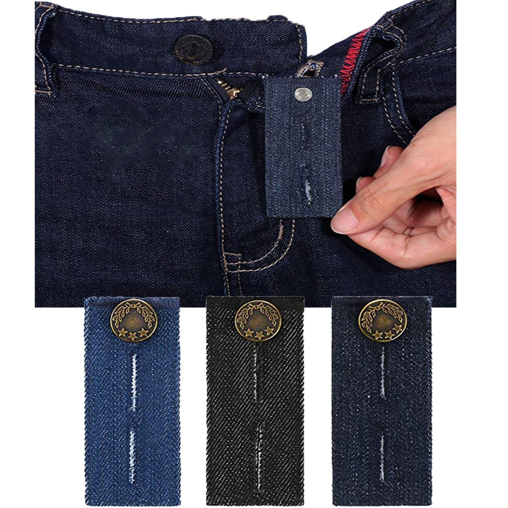 Belly Band-Denim Waist Extender/With Metal Button for Jeans Men and Women Waist Extender Button Pants Jeans Maternity CASHIMRE