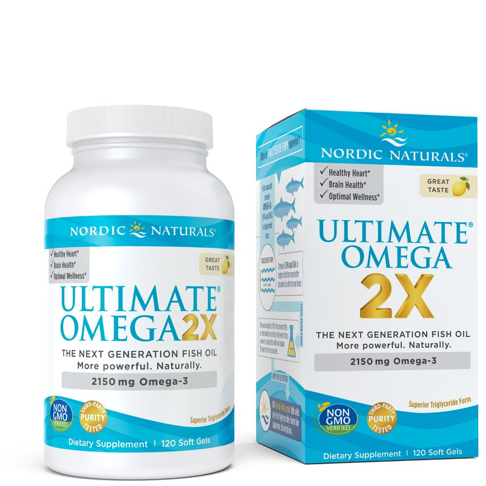 Nordic Naturals - Ultimate Omega 2X, Supports Heart, Brain, and Immune Health, 120 Count by Nordic Naturals