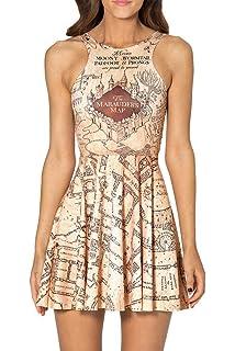 b6b589e6b7790 SheOutfit Women's Hot Deathly Hallows Skater Dress at Amazon Women's ...