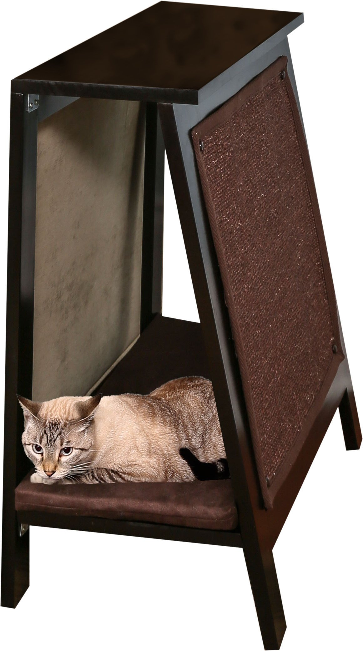 The Refined Feline AFRAME-ES A-Frame Cat Bed Scratcher, Espresso by The Refined Feline