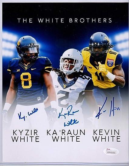 Karaun White Autographed West Virginia Football 8x10 Photo Coa Nfl D Football