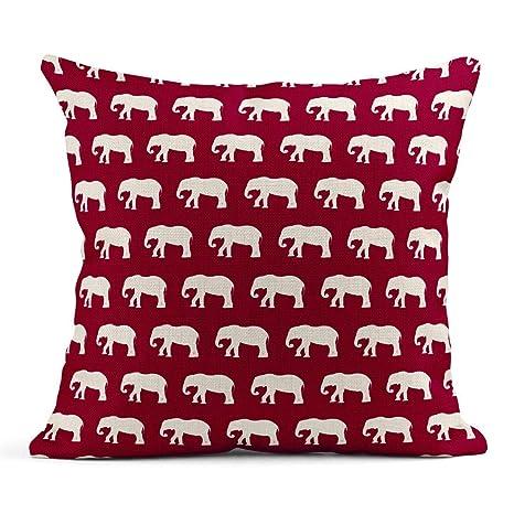 Kinhevao Cojín Colorido África Patrón de Elefantes Blancos ...