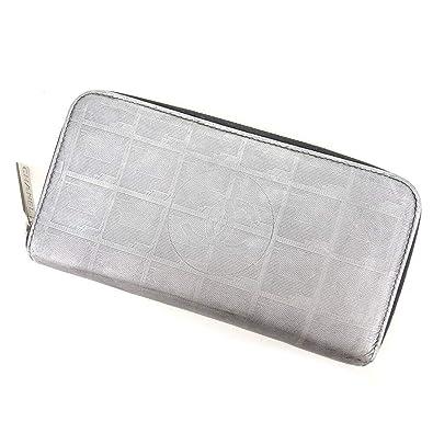 5632b1bd9d13 (シャネル) Chanel 長財布 ラウンドファスナー シルバー ニュートラベルライン レディース 中古 T8576