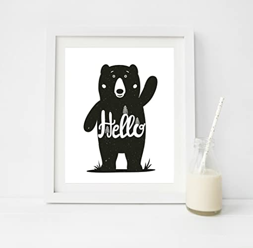 Scandinavian nursery decor black and white nursery print play room decor prints for