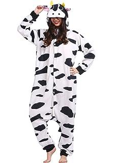 06b569d26f Kigurumi Pijama Animal Entero Unisex para Adultos con Capucha Cosplay  Pyjamas Vaca Ropa de Dormir Traje de Disfraz…