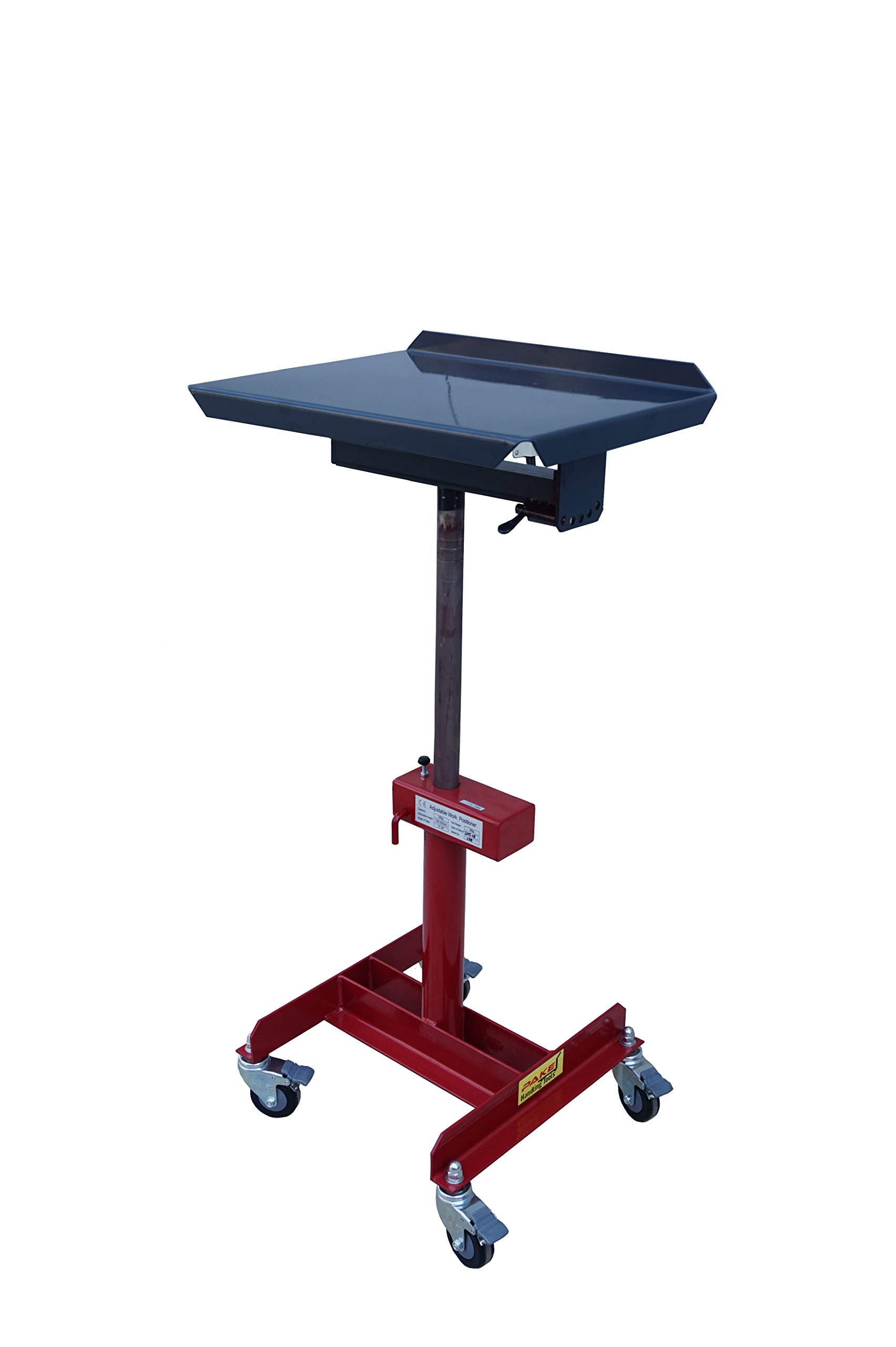 Pake Handling Tools - Tilting Work Table, 20x16'', 28 to 42'' Height, 330 lb. Load Capacity, 40 Degrees Tilting Angle