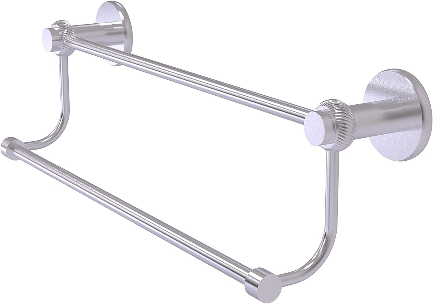 Allied Brass 9072T//36-PEW Mercury Collection 36 Inch Double Towel Bar with Twist Accents 36-Inch Antique Pewter