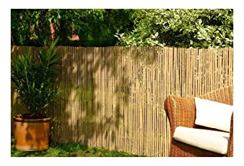 Best Artificial Real Bamboo Slat Fencing Screening Roll for Garden Outdoor  Privacy - 4m x 1m
