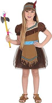 WIDMANN Disfraz de India Tul para niña T-4/5 años: Amazon.es ...