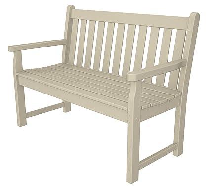 Astonishing Polywood Tgb48Sa Traditional Garden 48 Bench Sand Inzonedesignstudio Interior Chair Design Inzonedesignstudiocom