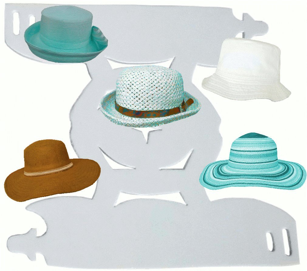 55ff4db3d63 Amazon.com  1Pk. White-Deluxe Floppy and Bucket Hat Shaper