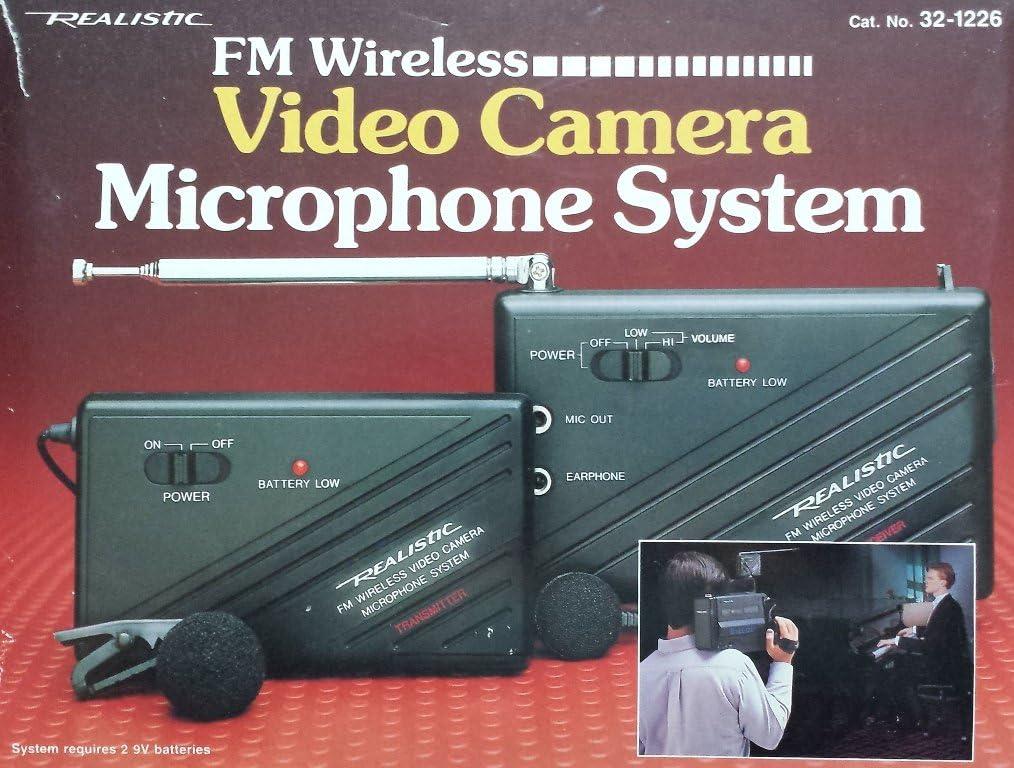 Vintage Realistic 2-Piece FM Wireless Microphone System