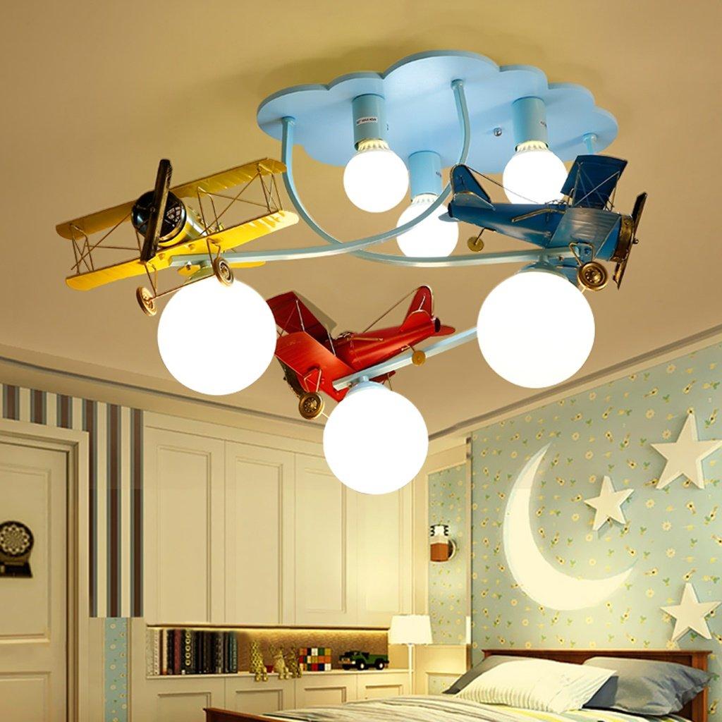 Unbekannt GJ- Europäische Kinderzimmer Junge Flugzeug Licht kreative Wohnzimmer Deckenleuchte