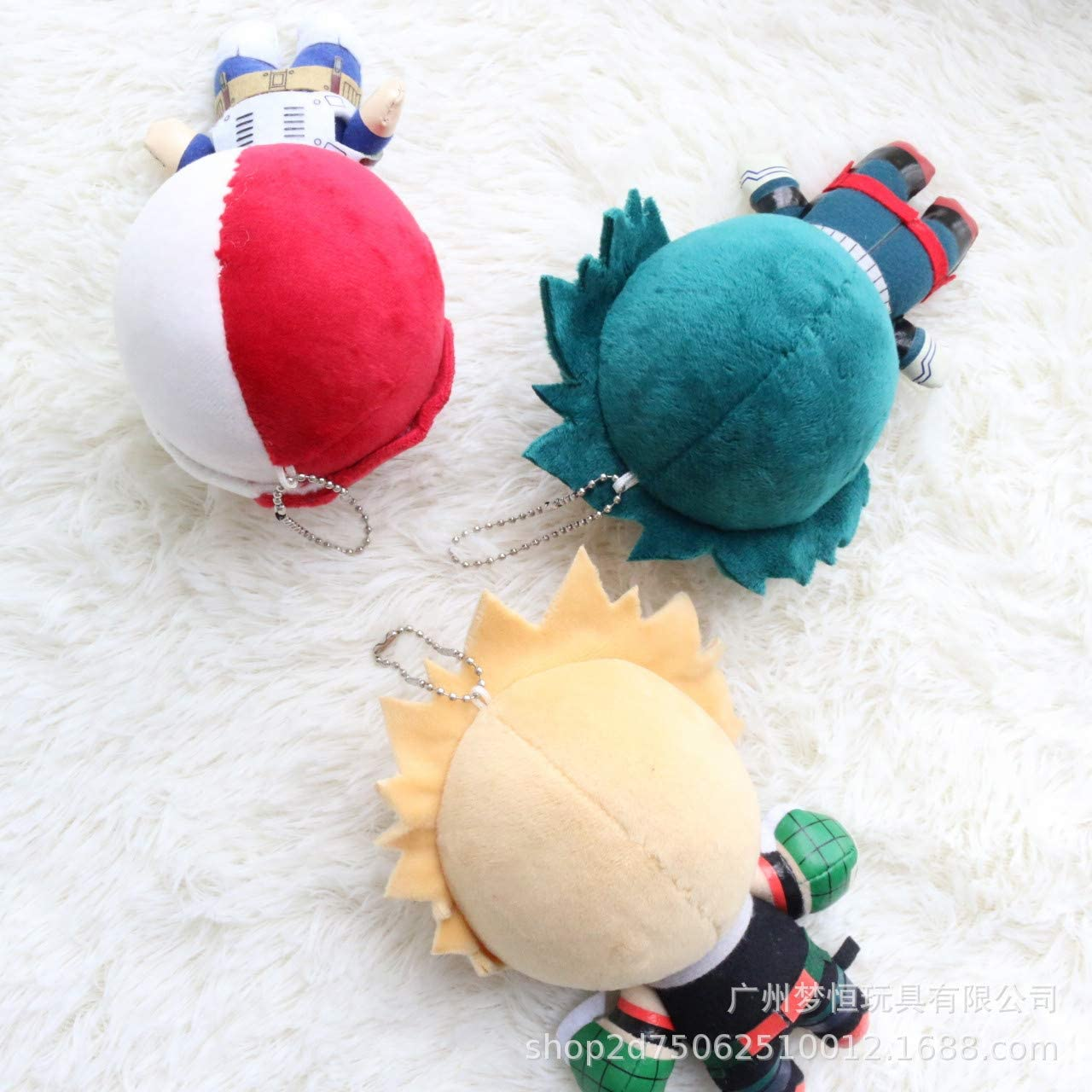 Anime My Hero Academia Bakugo Izuku Todoroki Plush Doll Toy Keychain Charm