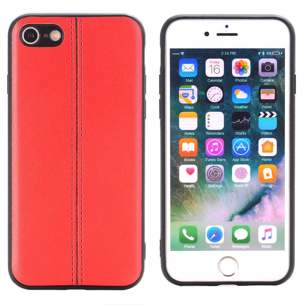5.5'' Cover for iPhone 6s Plus , Sammid girls Unique Design Soft PU Leather Case for iPhone 6/6s plus - Red