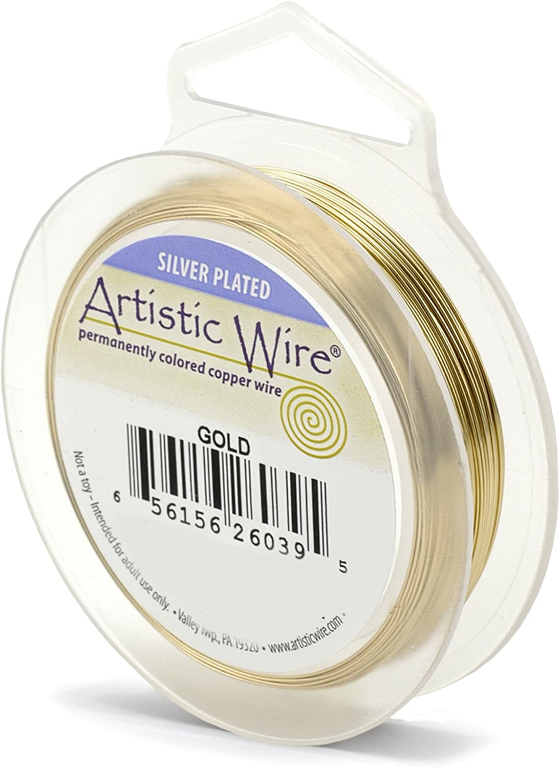10-Yard Artistic Wire 22S Gauge Wire Gold Color