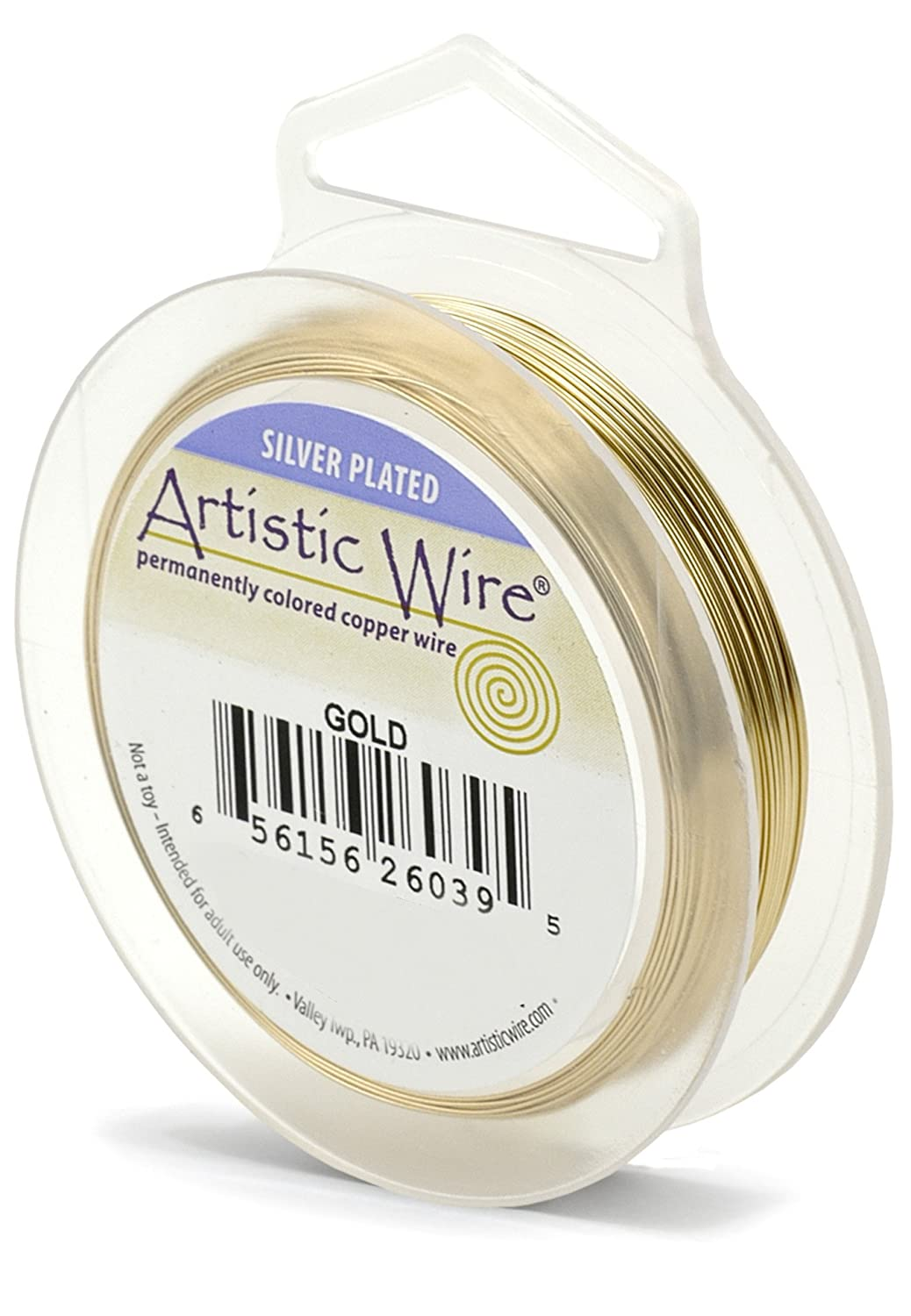 Amazon.com: Artistic Wire AWS-20S-03-25FT 20 Gauge Wire, Gold Color ...