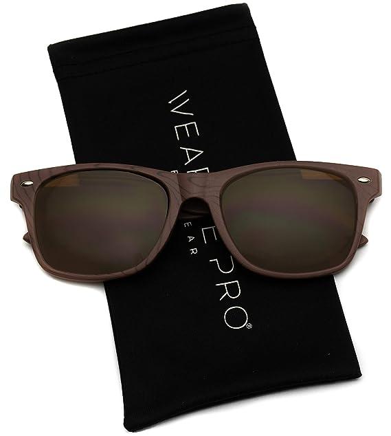Amazon.com: Gafas de sol con marco de hueso, lentes de color ...
