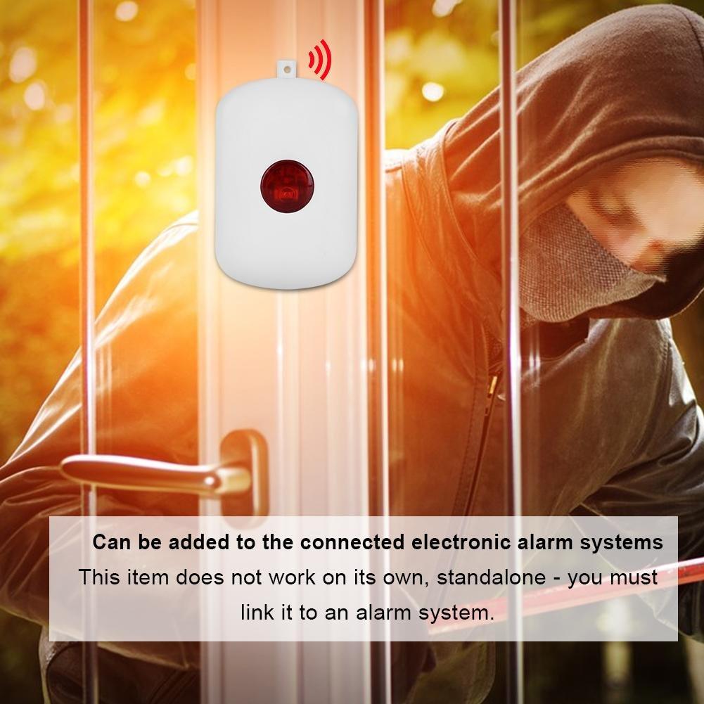 Zerone 433MHz Wireless Home Security Emergency Siren Alarm, SOS Panic Button Alarm for WiFi GSM Home Security Alarm System with Red Chain by Zerone (Image #4)