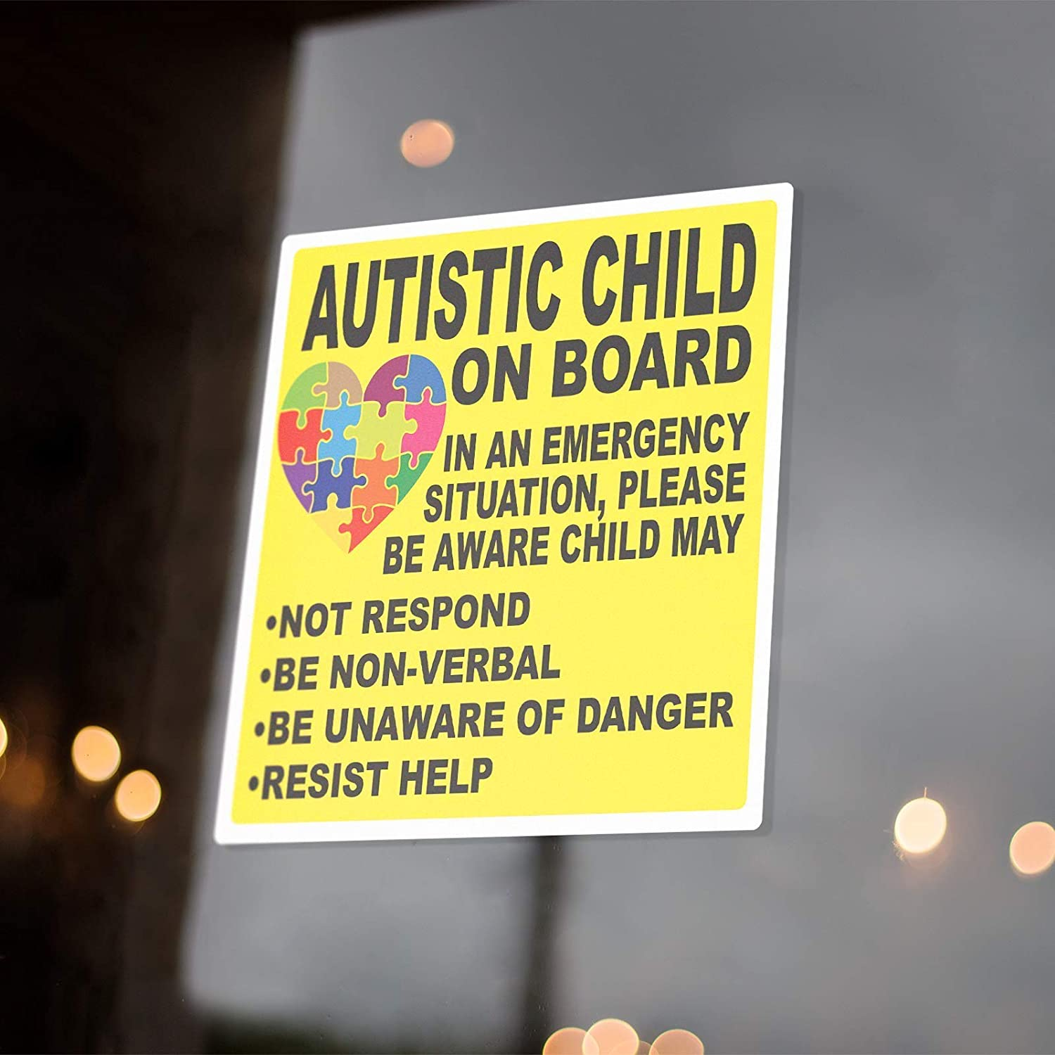Child With Autism On Board Sticker Decals