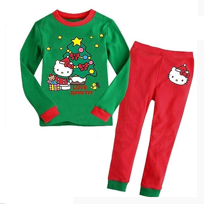 181a7af4c7 Happy Island Long Sleeve Cotton Baby Christmas Clothing Set Kids Santa Claus  Print Xmas Pajamas Nightwear