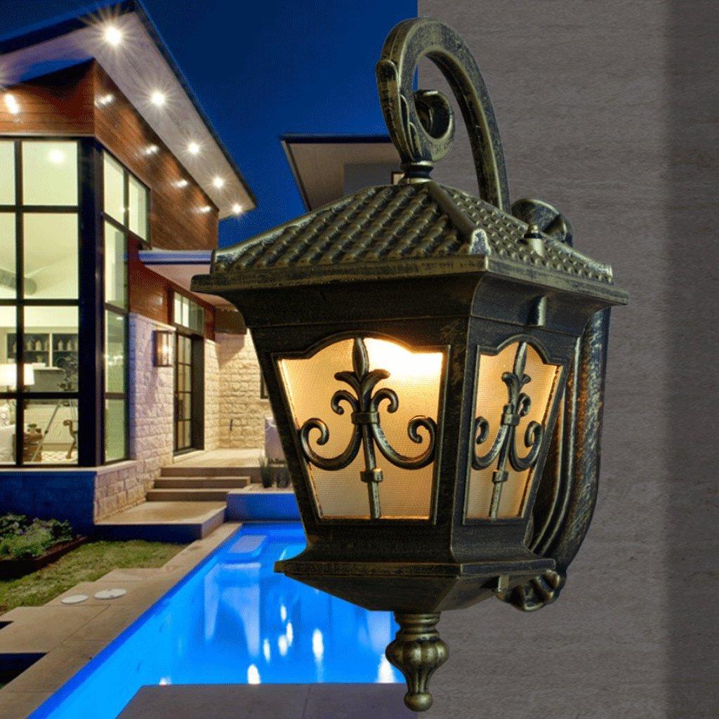 consegna e reso gratuiti Lampada Lampada Lampada da parete in stile europeo lampade luci del balcone Garden Villa Lampada da esterno a LED retro parete luce impermeabile tecnologia della lampada da parete della lampada  design semplice e generoso