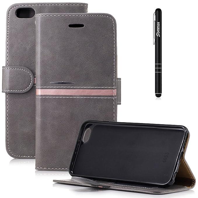 Slynmax Book Folio Leder Tasche Schutzhülle für iPhone 6s Plus/iPhone 6 Plus 5,5