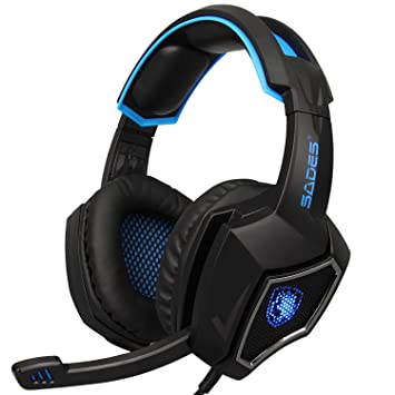 Gaming Headset, fishermo 7.1 Surround Sonido Estéreo ...