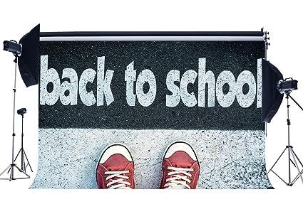 Amazon com : RBabyPhoto Welcome Back to School Backdrop