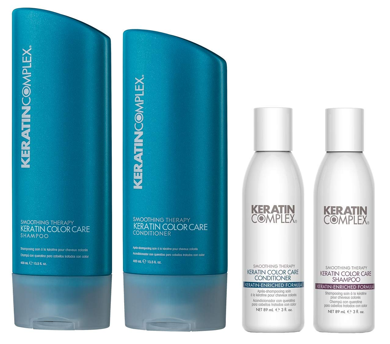 Keratin Complex Color Care Shampoo n Conditioner 13.5 Ounces and Travel Set by Keratin Complex