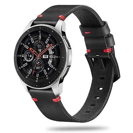 Fintie Correa para Samsung Galaxy Watch 46mm / Gear S3 Classic/Gear S3 Frontier/Huawei Watch GT - 22mm Pulsera de Repuesto de Cuero Genuino con ...