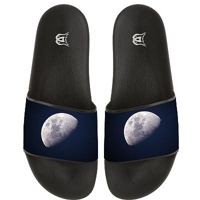 The Moon Women Men Slide Slippers Non-slip Home Floor Flip-flops Pool Beach Sandal Indoor Outdoor