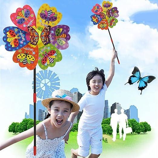 Yifeicx 3D Butterfly Insect Windmill Wind Spinner Casa Jardin Jardin Decoracion De Juguete De Los Niños: Amazon.es: Jardín