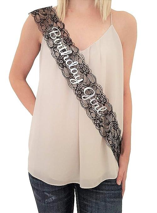 Amazon.com: Elegante cumpleaños de niña encaje negro faja ...