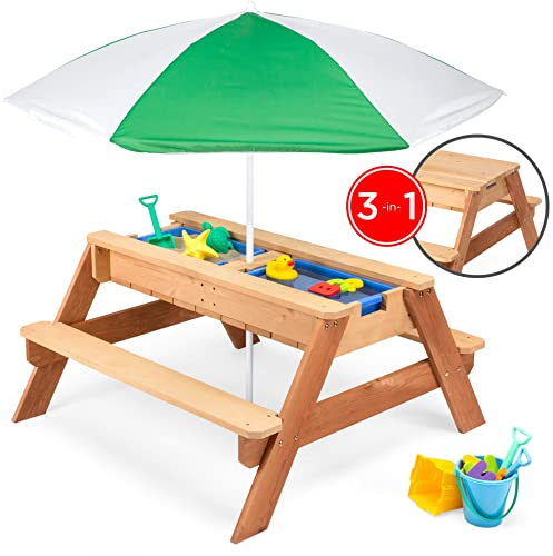 Best Choice Products Kids 3-in-1 Sand and Water Picnic Table