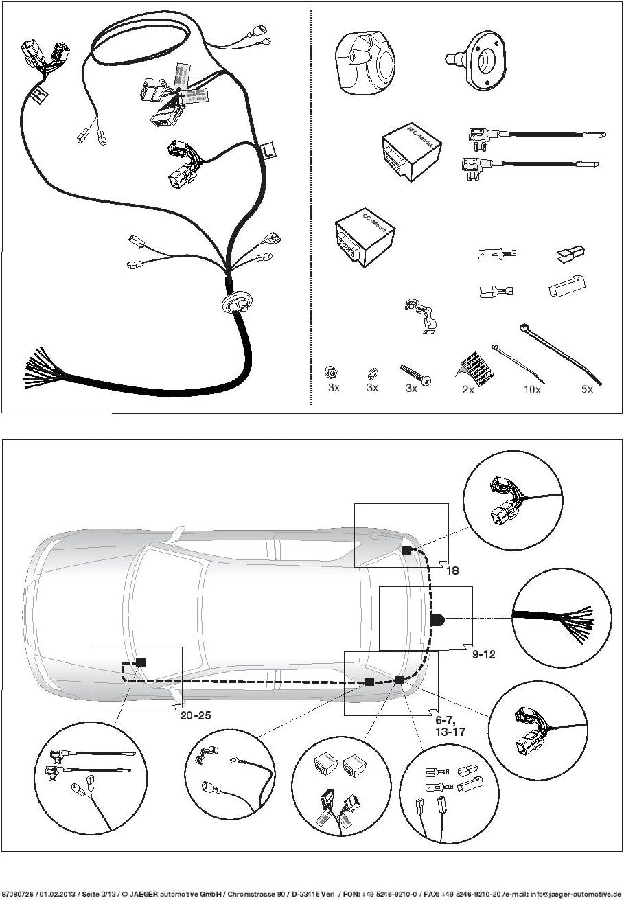 UmbraRimorchi Hyundai i30 CW Kombi 2012 AHK Abnehmbare Anh/ängerkupplung mit 13p Spezifischer E-Satz UT191COR14ZCM//WS21080531DE1