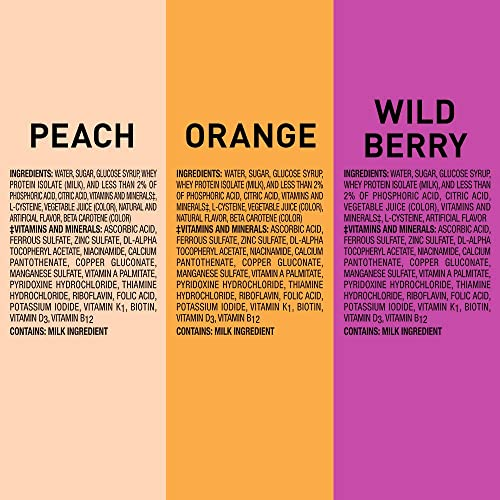 Boost Breeze, Variety Case, Orange, Peach, Wild Berry, 8 Ounce Boxes Pack of 27