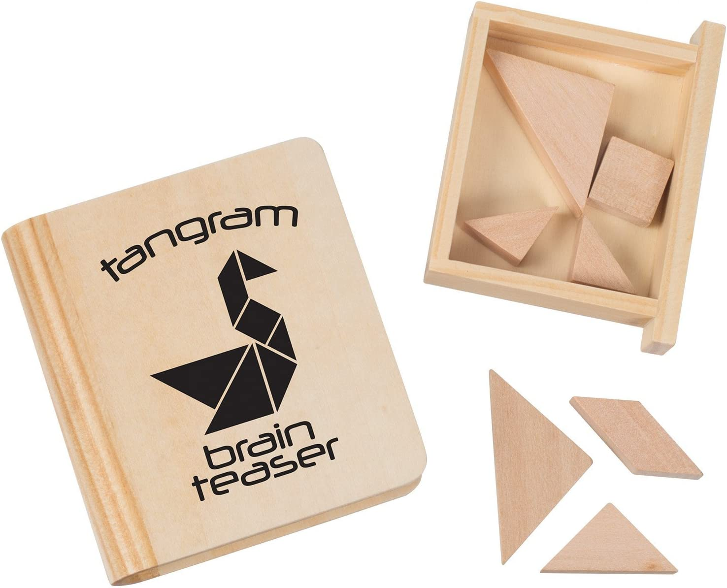 Tricky Triangle Tangram Magic Cube Jigsaw Puzzle Matching Game Set of 5 Classic Games