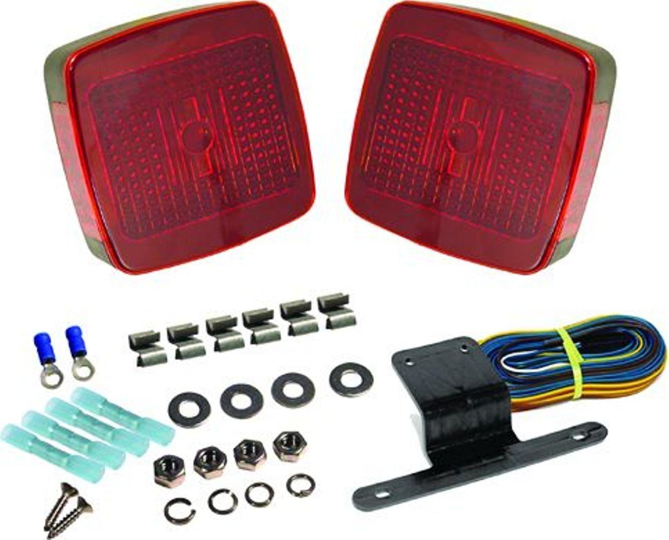 Seasense Square Led Trailer Tail Light Kit Automotive W 2539 Wiring Harness Optronics Lights
