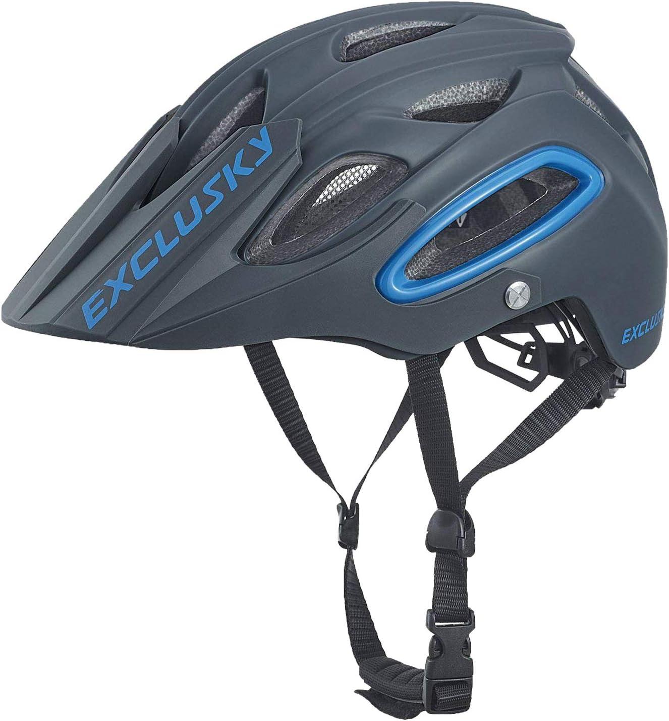 54-58cm Exclusky Casco de Ciclismo,Unisex Adulto,M