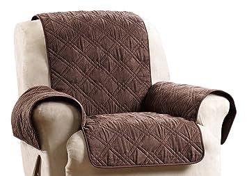 Stupendous Surefit Deluxe Non Skid Waterproof Pet Recliner Furniture Cover Chocolate Machost Co Dining Chair Design Ideas Machostcouk