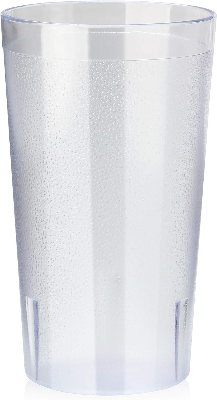 New Star Foodservice 46311 72 pcs RESTAURANT PLASTIC CUP Pebbled TUMBLERS 12 OZ Clear Color