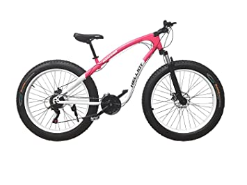 Helliot Bikes Arizona Fat Bike Bicicleta de Montaña, Adultos Unisex, Rojo/Blanco,