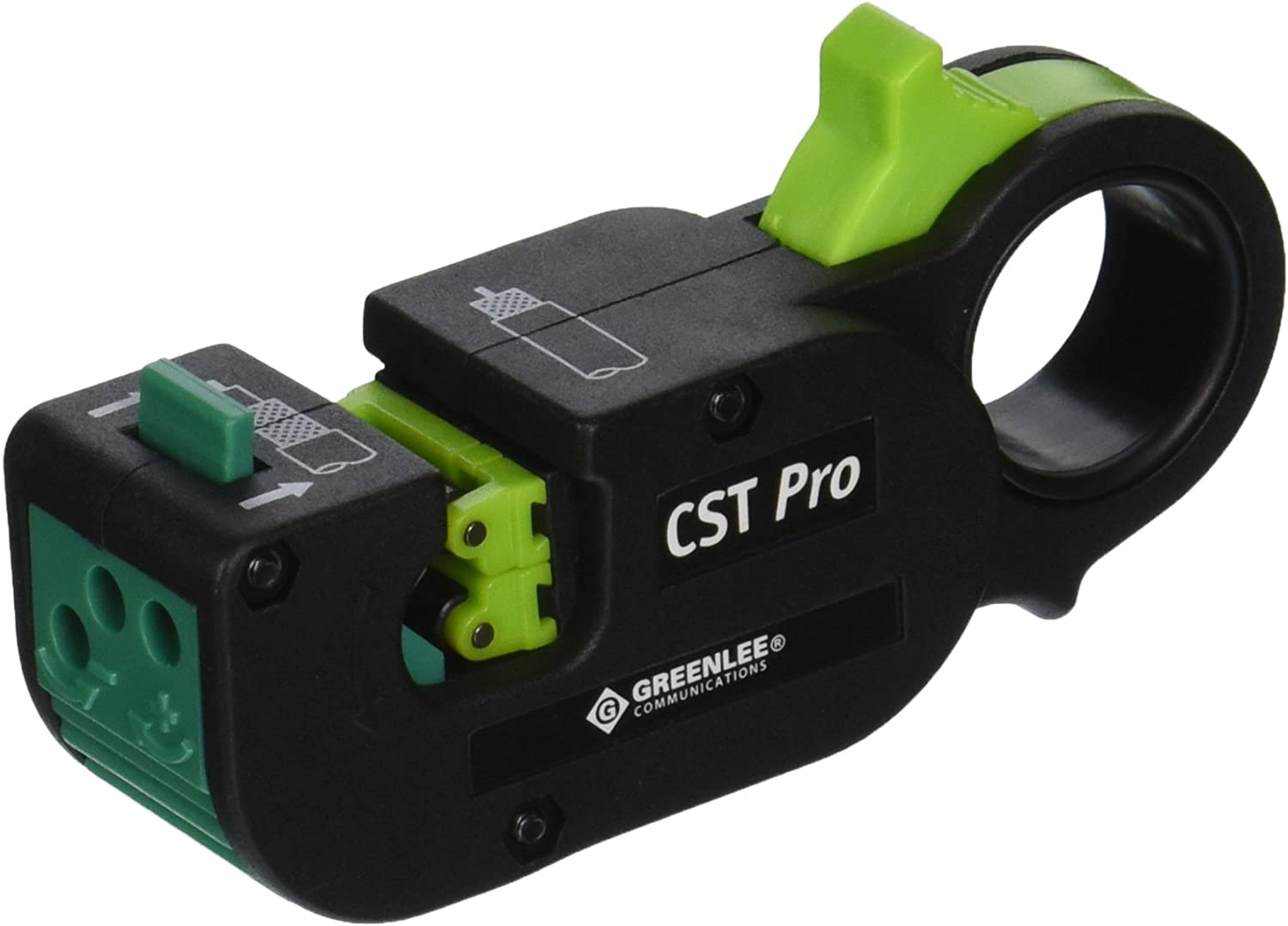 GREENLEE COMMUNICATIONS 1282 CST Pro Black Coax Stripper 3 level