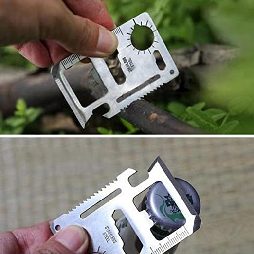 1Pc Key Chain Survival Whistle Bottle Opener Emergency Camping Outdoor Hiking